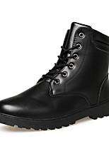 Черный Коричневый Белый-Мужской-Для прогулок Повседневный Для занятий спортом-Кожа-На низком каблуке-Удобная обувь Модная обувь-Ботинки