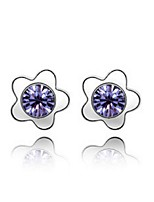 Thousands of colors Earring FlowerJewelry 1 pair Fashionable Alloy Silver Daily