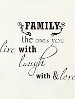 Wall Stickers Wall Decals Style Family English Words & Quotes PVC Wall Stickers