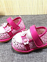 Girl's Sandals Spring / Summer / Fall Sandals PU Outdoor / Casual Flat Heel Bowknot Blue / Pink Walking