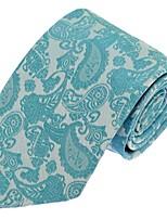 Cravate Vintage / Soirée / Travail / Décontracté Polyester,Homme Rayé,Vert Toutes les Saisons