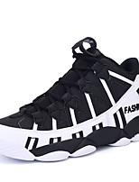 Herren-Sneaker-Sportlich-Tüll PU-Flacher Absatz-Komfort-Schwarz Weiß