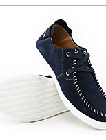 Men's Flats Spring / Fall Comfort  Outdoor / Casual Flat Heel Lace-up Blue / Burgundy Walking