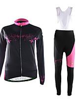 Спорт Велокофты и велокомбинезоны Жен. Длинные рукава ВелоспортДышащий / Сохраняет тепло / Пригодно для носки / 3D-панель / Ультралегкая