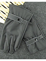 Winter Men'S Leather Gloves Wind And Cold Waterproof Thermal Motorcycle Touch Screen Leather Gloves