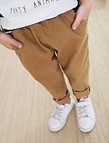 Boy's Casual/Daily Solid PantsCotton Fall Beige