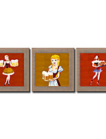 Modern Wall Art Pictures Abstract Girl And Beer Oil Painting Hand-Painted On Linen Home Decoration Painting With Frame