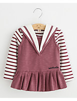 Girl's Casual/Daily Striped DressCotton / Rayon Spring / Fall Blue / Pink