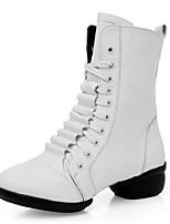 Na míru-Dámské-Taneční boty-Moderní / taneční boty-Kůže-Nízký podpatek-Černá / Červená / Bílá