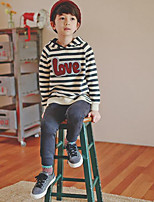 Boy's Casual/Daily Striped Hoodie & SweatshirtCotton Winter / Fall Gray