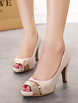Women's Heels Summer Microfibre Casual Stiletto Heel Others Nude Others