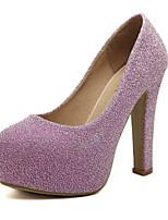 Черный Розовый Серебристый-Женский-Для прогулок Повседневный-Кожа Дерматин-На толстом каблуке На платформе-На платформе Удобная обувь-