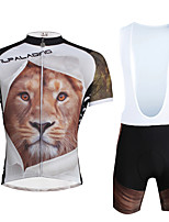 PALADIN® Maillot de Ciclismo con Shorts Bib Hombres / Unisex Mangas cortas BicicletaTranspirable / Secado rápido / Resistente a los UV /