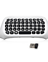 2.4G Mini Wireless Chatpad Message Keyboard for Microsoft Xbox One S Slim Controller (White)
