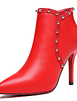 Women's Boots Spring/Fall/Winter Fashion Boots Fur Office & Career/Party & Evening Stiletto Heel Black / Red Snow Boots