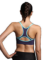 Women's Sexy Racerback Sports Bra Wireless Push Up Padded Quick Dry Underwear Fitness Running Yoga Tops