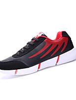 Herren-Sneaker-Lässig-PU-Flacher Absatz-Komfort-Schwarz Rot Orange