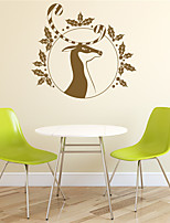 AYA DIY Wall Stickers Wall Decals The Christmas Festival Elaphurus Davidianus Style PVC Stickers 55*61cm