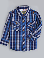 Boy's Casual/Daily Houndstooth ShirtCotton Fall Blue