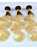 Dark-Root-Brazilian-Blonde-Hair-Weave-Bundles-Pansy-Hair-Style-Body-Wave-Blonde-Human Hair 3pcs/lot