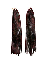 Crochet dreadlocks Extensions de cheveux 18Inch Kanekalon 24 Strands(Recommended Buy 5 Packs Full Head) Brin 90g gramme Braids Hair