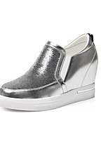 Women's Loafers & Slip-Ons Fall Leatherette Casual Flat Heel Sparkling Glitter Black Silver Hiking Walking