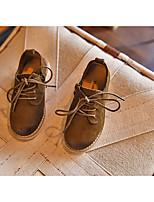 Jungen-Flache Schuhe-Outddor-Leder-Flacher Absatz-Flache Schuhe-Schwarz / Gelb / Grün