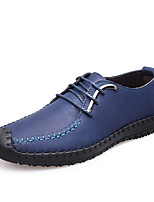 Men's Oxfords Spring / Fall Comfort Leather Casual Flat Heel Lace-up Black / Blue / Yellow Others
