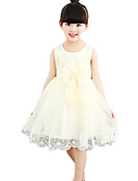 Girl's Casual/Daily Solid Dress,Cotton / Others Summer Pink / White / Yellow