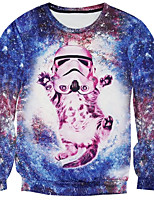 New Fashion Men Cat Printed Pullover Long Sleeve 3d Sweatshirt