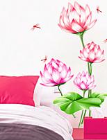 ботанический / Романтика / Натюрморт Наклейки Простые наклейки / 3D наклейки Декоративные наклейки на стены,PVC материалСъемная /