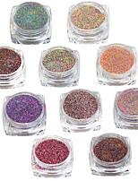 1set Mixed Color Nail Sugar Powder Nail Art Dust Tips Nail Decorations Dazzling Manicure Craft #523-532