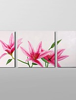 Hand-Painted Pink Lily Flower Oil Painting on Canvas Home Wall Art Ready to Hang Stretched Frame