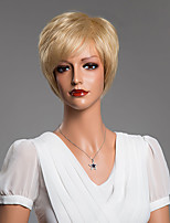 Youthful Short Straight Human Hair Capless Wig 10 Inches