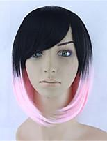 черный градиент розовые волосы гриб COS париков студентов волос