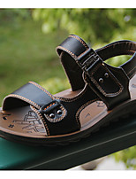 Boy's Sandals Summer / Fall Sandals Cowhide Outdoor / Athletic Flat Heel Beading