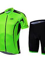 Deportes Bicicleta/Ciclismo Sets de Prendas/Trajes Hombres / Unisex Mangas cortasTranspirable / Secado rápido / Cremallera delantera /