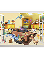 Wall Stickers Wall Decals Style Pocket Monster PVC Wall Stickers