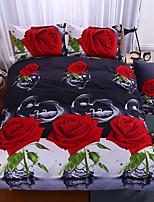 3D Duvet Cover Set 1pc Duvet Cover 1pc Bed Sheet Set  Pillowcase Bedding Set