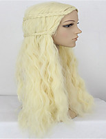 Game Of Thrones A Song of Ice and Fire Beige Blonde  Cosplay Wig Daenerys Targaryen Anime