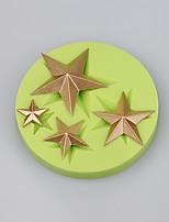 Star shape 4 cavity silicone cake mold decoration chocolate mold fondant cake tools easy baking