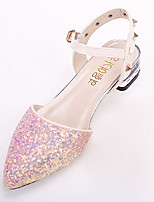 Women's Sandals Fall Comfort PU Casual Flat Heel Rivet / Buckle Pink / Purple / White Others