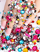 2000pcs Nail Art Décoration strass Perles Maquillage cosmétique Nail Art Design