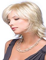 perruque courte ondulés blonds synthétique de mode de vente chaude pour dame sexy perruques synthétiques