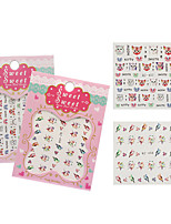 Fashion DIY Designer Water Transfer Nails Art Sticker Sweet Cat Bird Fashion Nail Stickers
