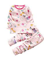 Girl's Casual/Daily Print SleepwearCotton Fall Pink