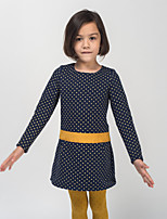 Girl's Casual/Daily Polka Dot DressPolyester Spring / Fall Blue