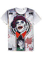 New Fashion Men  Personality  character  Crew Neck Short Sleeve Men 3d T-shirt