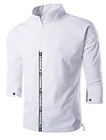 Men's Short Sleeve Casual / Sport JacketCotton Letter Black / Blue / Green / Red / White