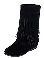 Women's Shoes Wedge Heel Round Toe Tassel Mid Calf Boot More Color Available